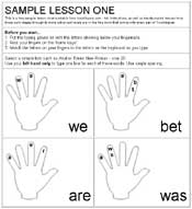 Touchtypers - Free Sample Lesson One